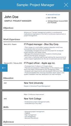 Resume design studio - Professional and stylish resumes designer app