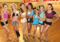 Chloe, Paige, Brooke, Nia, Mackenzie, Maddie and Kendall at millennium dance center in Los Angeles