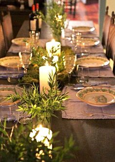 Christmas...lovely table setting