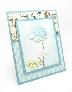 A Sympathy Card using Stampin' Up!'s Field of Flowers Stamp Set