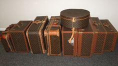 Louis Vuitton Vintage Suitcases, Trunks, Hat Boxes.