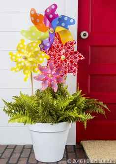 For your next big event, decorate your doorstep with colorful pinwheels in all shapes and sizes!