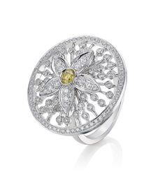 <p>An intricate, delicate Jasmine ring from Boodle's Maymay…