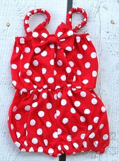Red White Polka Dot Baby Jumpsuit #kemaily