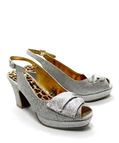 Take a look at this Silver Brook Peep-Toe Sandal by B.A.I.T. on #zulily today!