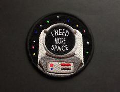 L'astronaute Patch fer sur les patchs Applique brodé Patches • j'ai besoin de plus d'espace Art