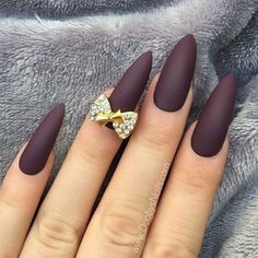 21 Elegant and Hip Designs for Matte Nail Polish ★ See We have compiled a picture gallery of our favorite ideas for matte nail polish that we know you'll love! Matte nails are totally trendy and stunning!more: http://glaminati.com/matte-nail-polish-designs/