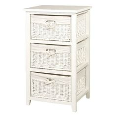 White Wicker Tall 3 Basket Storage Chest Of Drawers Bathroom ,  Http://www.amazon.co.uk/dp/B005SS8JZM/refu003dcm_sw_r_pi_dp_A5Ontb1JQHE4X