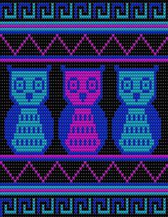Tapestry Crochet Patterns, Christmas Crochet Patterns, Bead Loom Patterns, Beading Patterns, Crochet Owls, Crochet Purses, Crochet Chart, Crochet Motif, Wayuu Animal