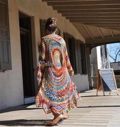 """Crochet Hippie Sweater, Hippie Sweater, Boho Hippie sweater, Hippie Vest, """"Rock a Little""""-Stevie Nicks style Crochet Jacket, Crochet Cardigan, Crochet Shawl, Crochet Circle Vest, Crochet Sweaters, Estilo Hippie, Boho Hippie, Modern Hippie, Hippie Fashion"""