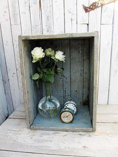 Vintage Aufbewahrung - Industrial - alte Material Kiste -  #vintage #industrial #shabbychic #brocante