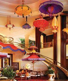 Wynn Las Vegas - I love the lights, umbrellas, and color