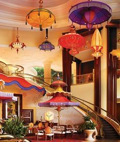 Wynn Las Vegas - I love the lights, umbrellas, and color