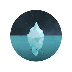 Iceberg says hi ! by Benjamin Flouw, via Behance