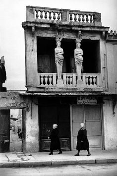 Bid now on Athens, Greece by Henri Cartier-Bresson. View a wide Variety of artworks by Henri Cartier-Bresson, now available for sale on artnet Auctions. Henri Cartier Bresson, Candid Photography, Vintage Photography, Street Photography, Urban Photography, Color Photography, Greece Photography, Magnum Photos, Walker Evans