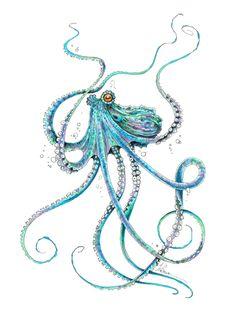Drunk Octopus Unisex Tank Top by taojb Tattoos Mandala, Octopus Tattoos, Cute Octopus Tattoo, Iphone Skins, Tentacle, Sea Creatures, Framed Art Prints, Piercing, Cool Art