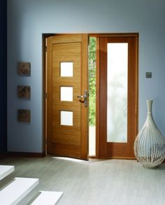 External doors for front and back outside use. Huge selection of external wooden doors, glazed external doors, hardwood. Free delivery on UK external doors. Oak Front Door, Double Front Doors, Wooden Front Doors, Timber Door, House Front Door, Contemporary Interior Doors, Contemporary Front Doors, Modern Front Door, Modern Entryway