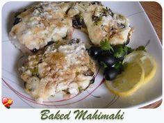 Simple and tasty Baked Mahi Mahi recipe. Find more delicious Hawaiian and local style recipes here. Seafood Menu, Seafood Recipes, Dinner Recipes, Cooking Recipes, Yummy Recipes, Hawaiian Dishes, Hawaiian Recipes, Baked Mahi Mahi, Island Food