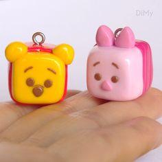 Fimo polymer clay Tsum Tsum  Winnie & Piglet cubes/Petits cubes Winnie et Porcinet