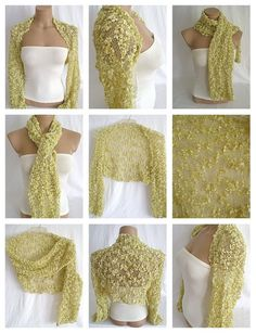Hand knitted gold bolero shrug