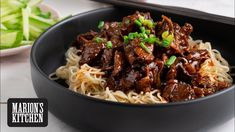 Find out How to prepare Chinese Meat - Tofu Bowl Rezepte Chinese Noodle Dishes, Chinese Food, Asian Recipes, Beef Recipes, Cooking Recipes, Chinese Recipes, Thai Recipes, Wok, Beef And Noodles
