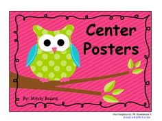 Owl Center Posters - Posters included are: Math, Reading, Writing, Listening, Science, Computer, Word Work, Teacher Table, Art, Smart Board, Fluency, Dramatic Play, Sand & Water, Blocks, Fine Motor, Dress Up, iPads, Phonics, Girls, Boys, Library, Smart Table, Calendar, ABC, Home Center, Music, Letter Games, Letter Practice, iPads #1, iPads #2, Spelling, and Vocabulary.The set goes along with my other owl products, so check them out!If you like the Owl Center Posters, but have different c...