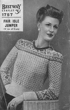 Lovely 1940s design http://www.thevintageknittinglady.co.uk/images/23sept2011/bestway1757a.jpg