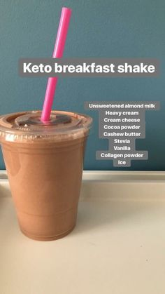 Keto Hot Breakfast 1 cup almond milk cup heavy cream 1 T almond butter 1 tsp vanilla 1 T cream - Keto Breakfast - Ideas of Keto Breakfast - 1 cup almond milk cup heavy cream 1 T almond butter 1 tsp vanilla 1 T cream cheese 1 scoop of collagen Cetogenic Diet, Keto Diet Plan, Low Carb Diet, Diet Plans, Ketosis Diet, Keto Smoothie Recipes, Ketogenic Recipes, Diet Recipes, Keto Breakfast Smoothie