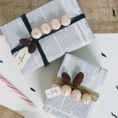 Wooden Bead Gift Wrap