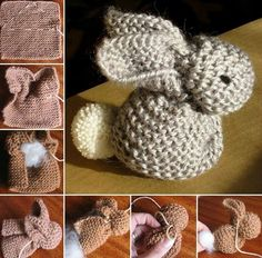 How To Knit An Easter Bunny easter diy knit diy ideas knitting knitting crafts easter crafts easter bunny easter gifts Loom Knitting, Knitting Patterns Free, Baby Knitting, Crochet Patterns, Free Pattern, Crochet Amigurumi, Knit Or Crochet, Crochet Bunny, Knitting Projects
