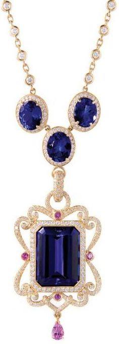 """Aurora"" pendant by Erica Courtney. Via Diamonds in the Library."