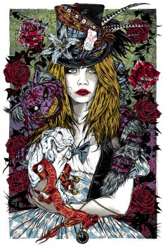Femme fatale series: Alice in Wonderland. Ilustración de Rhys Cooper.