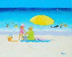 Beach decor Tropical Art Beach painting beach art by JanMatsonArt