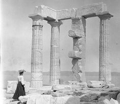 1905 ~ Temple of Poseidon at Cape Sounion  http://www.candianews.gr/