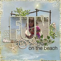 Fun on the beach by Designs by Mozz, ©Maree Mulreany