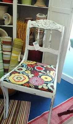 I have some fabric very similar to this... now I just need to find a chair!