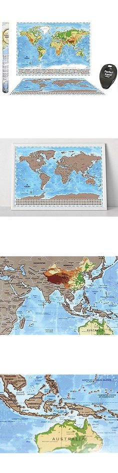 Other travel maps 164807 scratch map deluxe world map poster other travel maps 164807 scratch off world map large track where you travel gumiabroncs Image collections