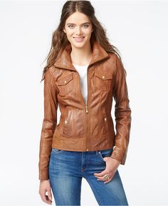 GUESS Leather Motorcycle Jacket