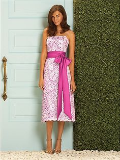 Dessy Collection #pink #bridesmaid #dress love the vintage look    Would like to see if they have this in Carolina blue