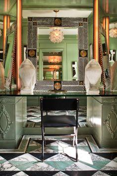 KELLY WEARSTLER | INTERIORS. Hillcrest Estate, Powder Room