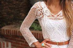 Aprenda como fazer blusas de crochê: Vídeos