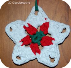 Estrella de Navidad a ganchillo o crochet #bauldesastre