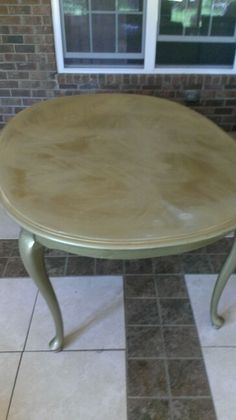 Before - Non Shabby Oval Table
