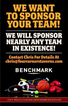 We want to Sponsor your team! #Chicago