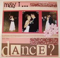 CTMH Wedding scrapbook layout by http://carlacreates.blogspot.com