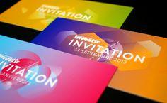 Invitation Investir by Graphéine, via Behance Invitation Flyer, Carton Invitation, Invitation Design, Invite, Logo Branding, Branding Design, Mises En Page Design Graphique, Logo Word, Behance