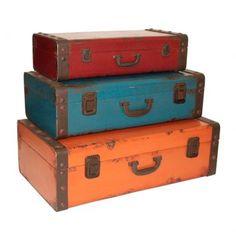 maleta estilo baú
