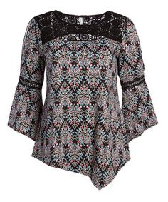 Another great find on #zulily! Spinystar Lace-Accent Asymmetrical-Hem Tee - Plus #zulilyfinds