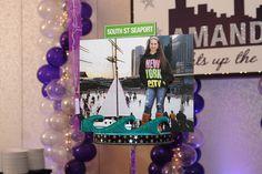 New York, NY Themed Pedestal Diorama Centerpiece | South Street Seaport
