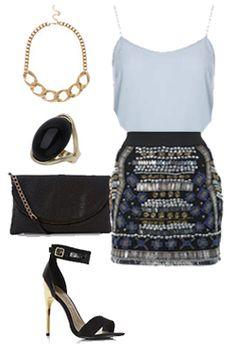 Miss High Street - High Street's Hottest - Embellished skirt
